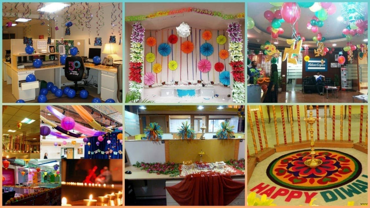 Diwali decorations ideas for office | office decoration ...