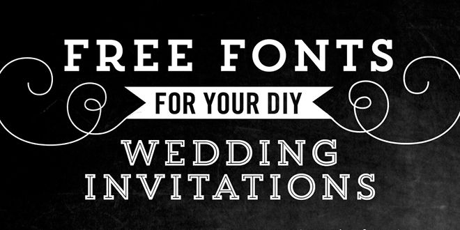 Font Used For Wedding Invitations
