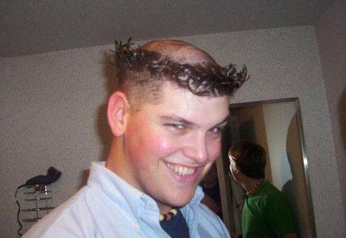 Weird Haircut Monk Crazy Hair Style Funny Pictures Funny Photos