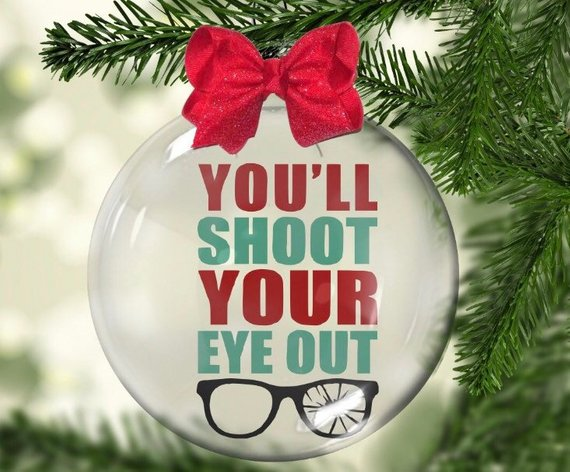 You Ll Shoot Your Eye Out A Christmas Story Movie Inspired Ornament Glass Christmas Ornaments Christmas Ornaments Christmas Bulbs