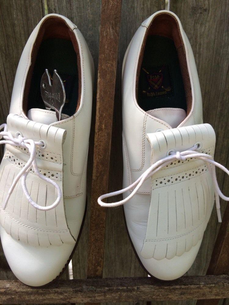 Ralph Lauren Women's Golf Shoes w/metal spikes; size 8 1/2 B #LaurenRalphLauren #LaceUps #golf