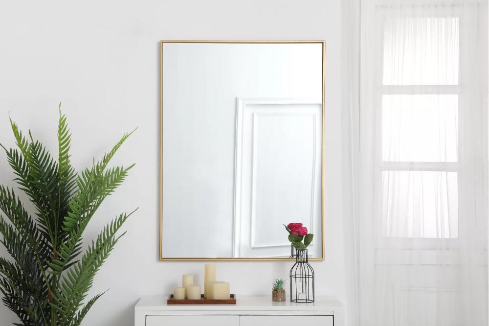 Modern Contemporary Accent Mirror In 2021 Rectangular Mirror Elegant Decor Contemporary Accents