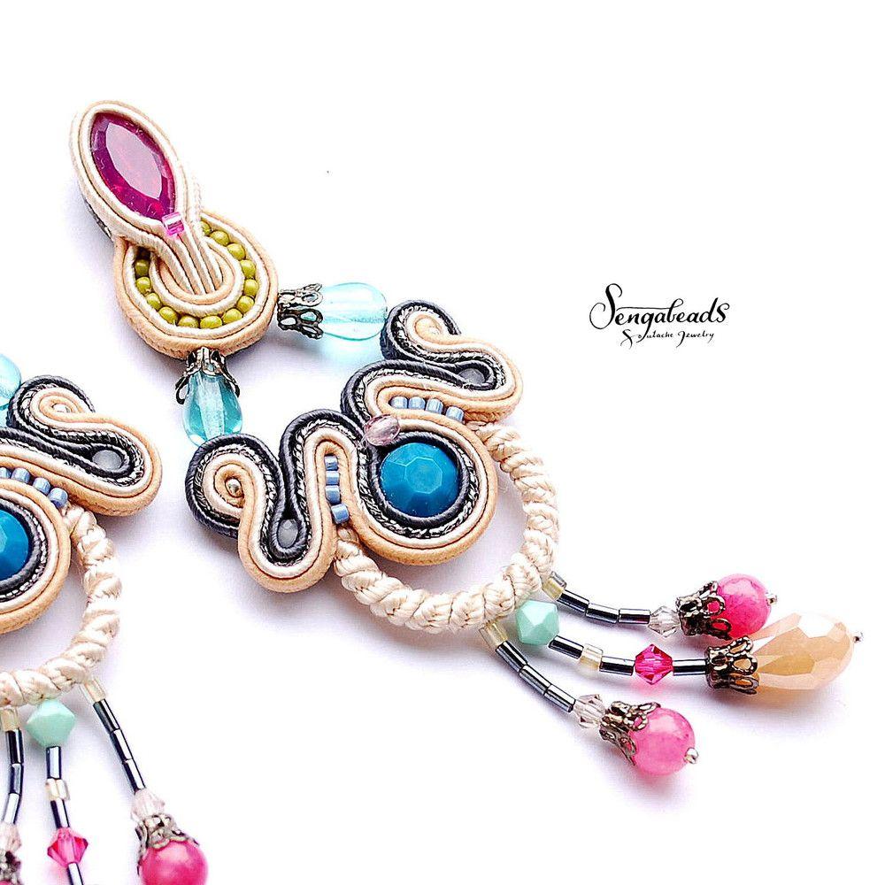 Colorful earrings colorful chandelier earrings chandelier chandelier earrings colorful earrings colorful chandelier earrings a unique product by sengabeads arubaitofo Images