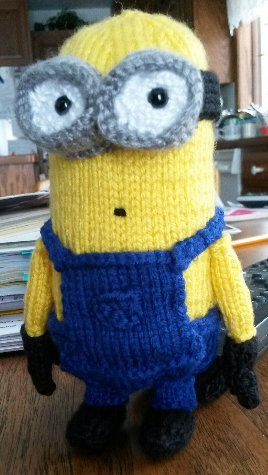 Free Knitting Pattern for Minion 6 Inch Toy - This small ...