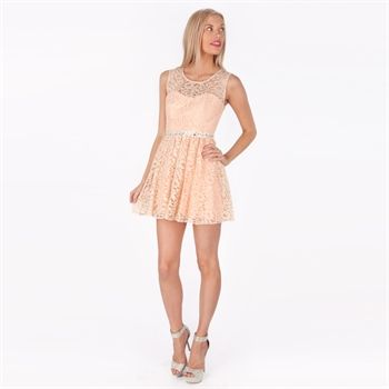 Sequin Hearts Juniors Lace Illusion Dress with Open Back | from ...
