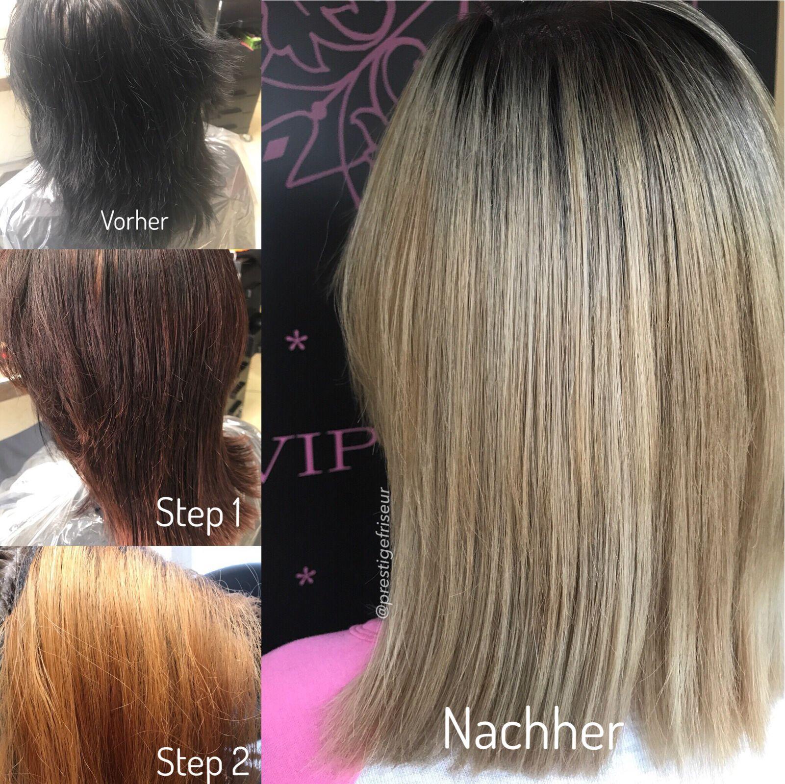 Von färben haare schwarz auf blond Von Schwarz