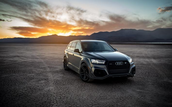 Download Wallpapers Audi Q7 Gray Luxury Suv Tuning Q7 Abt German Cars Audi Besthqwallpapers Com Audi Audi Q7 Q7 Audi