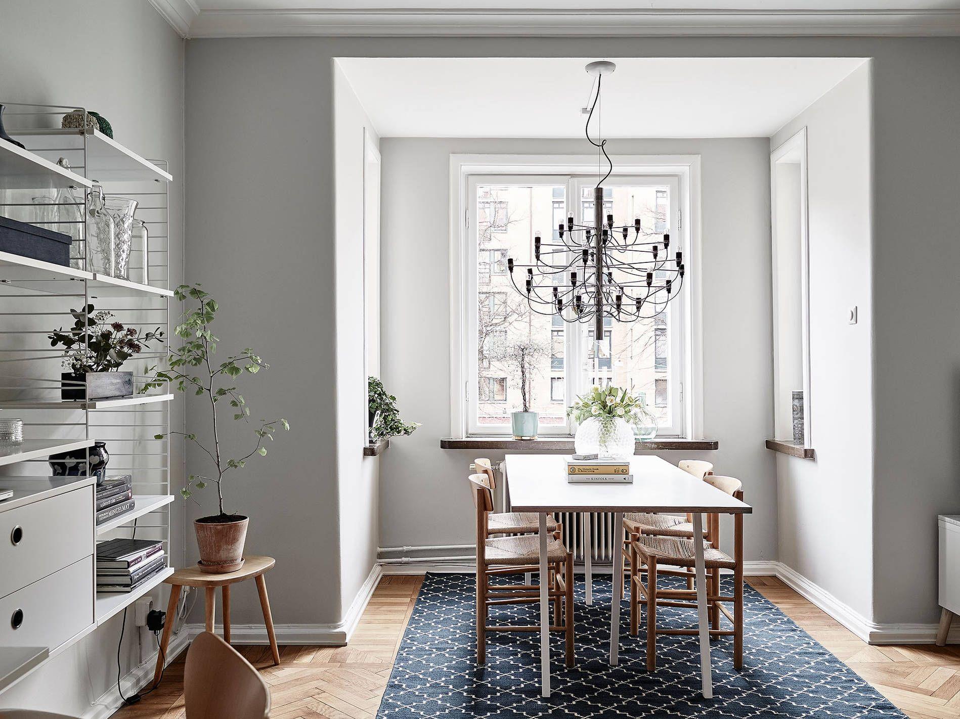 Un apartamento sueco con mucha luz