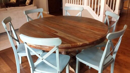 Our 60 Round Kitchen Table From Lucky Home Chairs Were