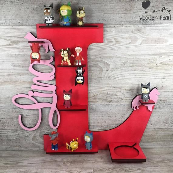 Tonieboxregal Größe M 40cm mit eurem Namen Tonies Regal Tonie Kinder Baby Kinderzimmerdekoration Tonieregal Mädchen Toniebox magnetisch