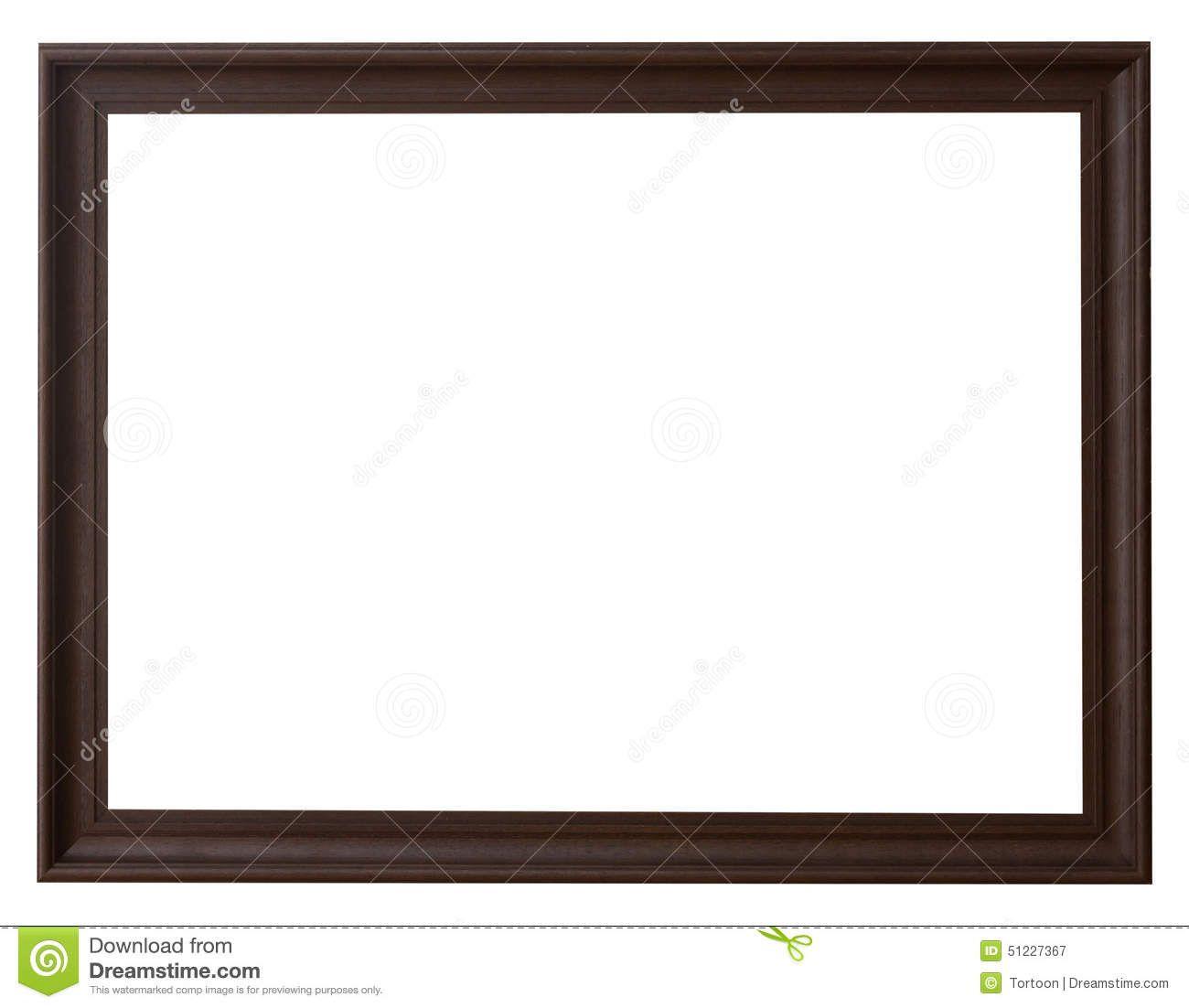 Marco de madera horizontal para la imagen en blanco aislado ...