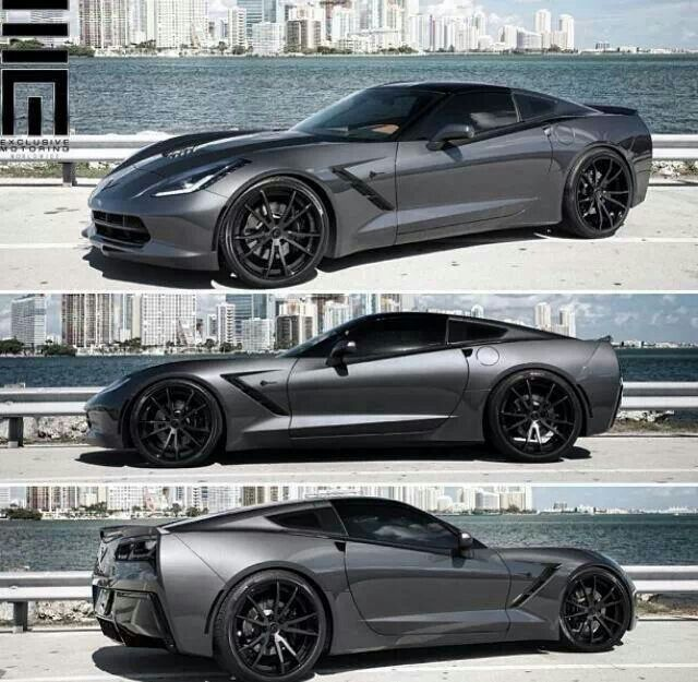 Corvette C7 - body still looks like a corvette but has a lot of the same lines and roundness in the front as Aston Martin.