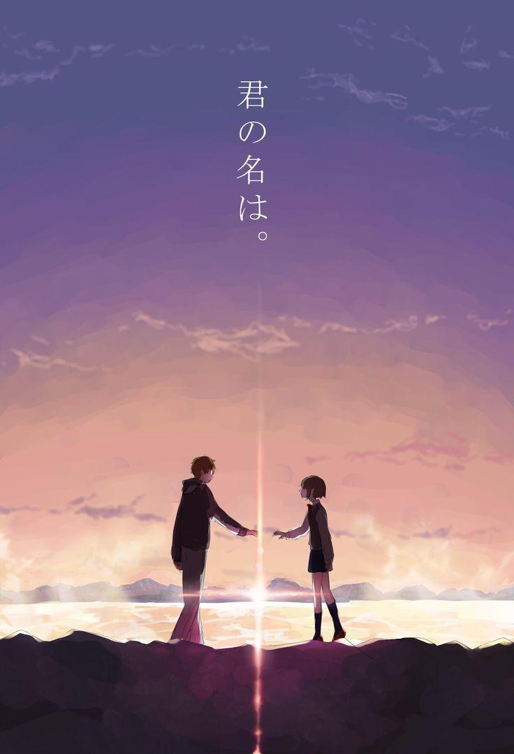 Risultati Immagini Per Anime Couple Wallpaper For Two Phone Filmes De Anime Kimi No Na Wa Animes Wallpapers