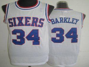 ee66d5e8f83 Philadelphia 76ers Cheap NBA  34 White Charles Barkley Soul Swingman Jersey   G187