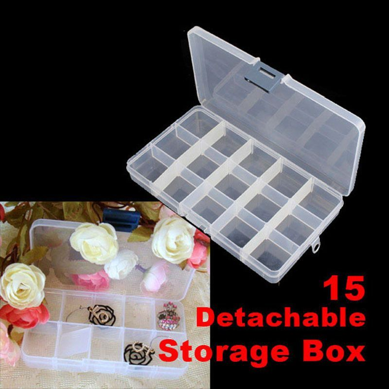 Hot sale 15 grids Detachable Plastic Storage Box Rhinestone Nail Art ...