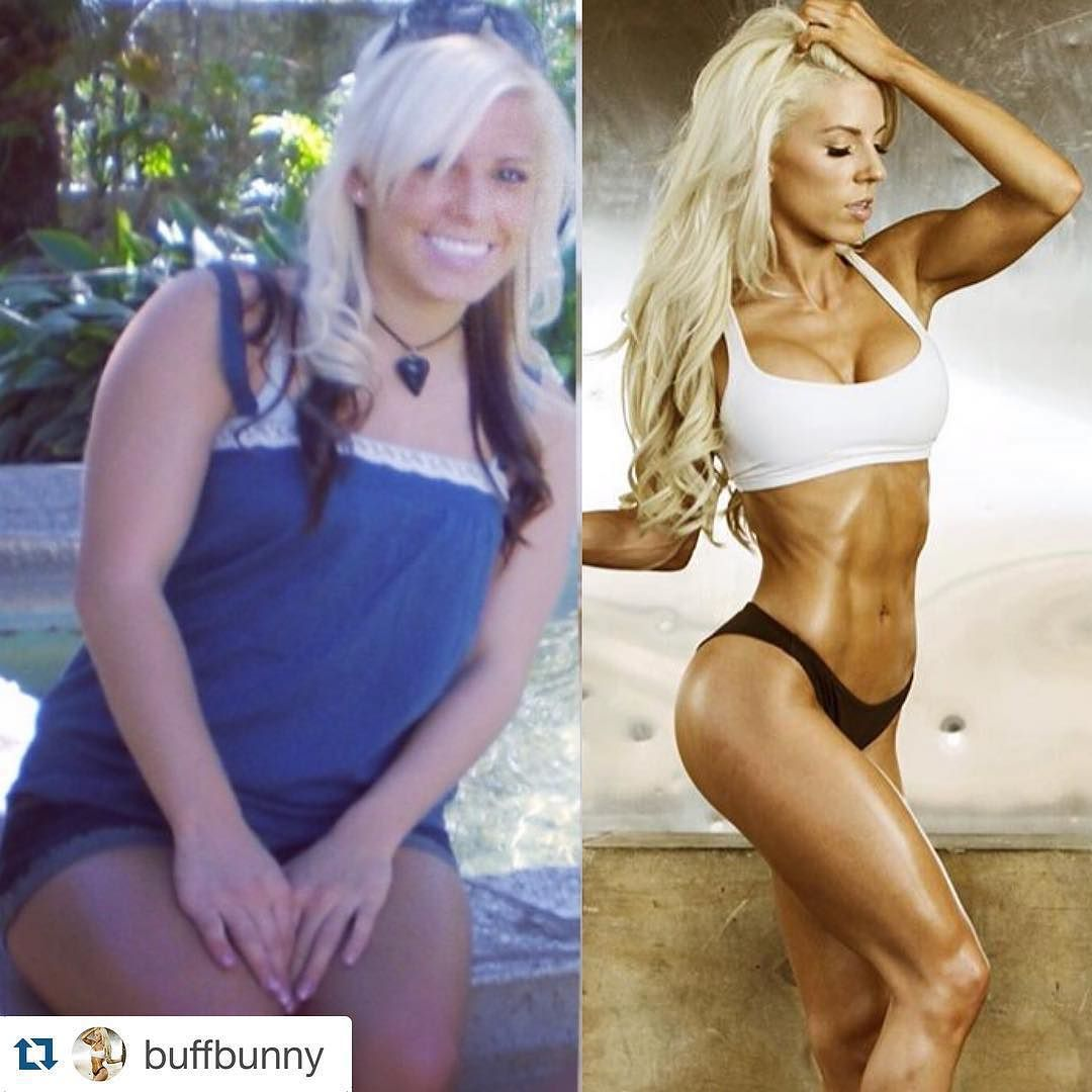 """THIS is my inspiration! @buffbunny . #Repost @buffbunny with @repostapp. #TransformationTuesday I wasn't always fit. I wasn't fat either. I like to use the term..squishy. I struggled with my weight just like most of you. I kept telling myself """"Diet starts Monday"""" and giving myself excuses why I wasn't putting my health first. But one day that was it. I didn't like the path I was going down. I was gaining weight very quickly. I told myself enough was enough. So I began my fitness journey…"""