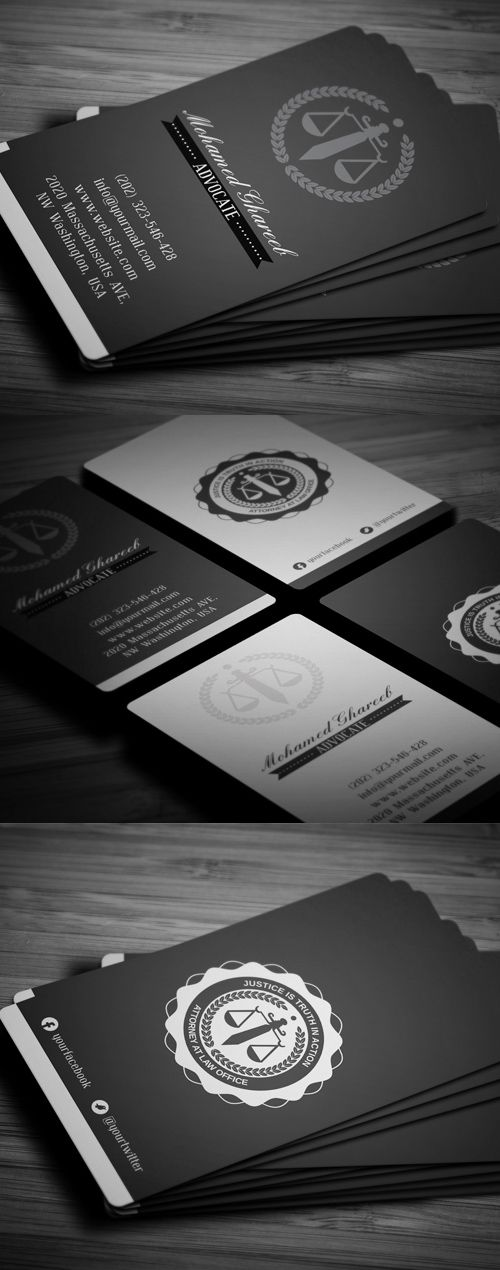 Creative Lawyer Business Card #businesscards #printready ...
