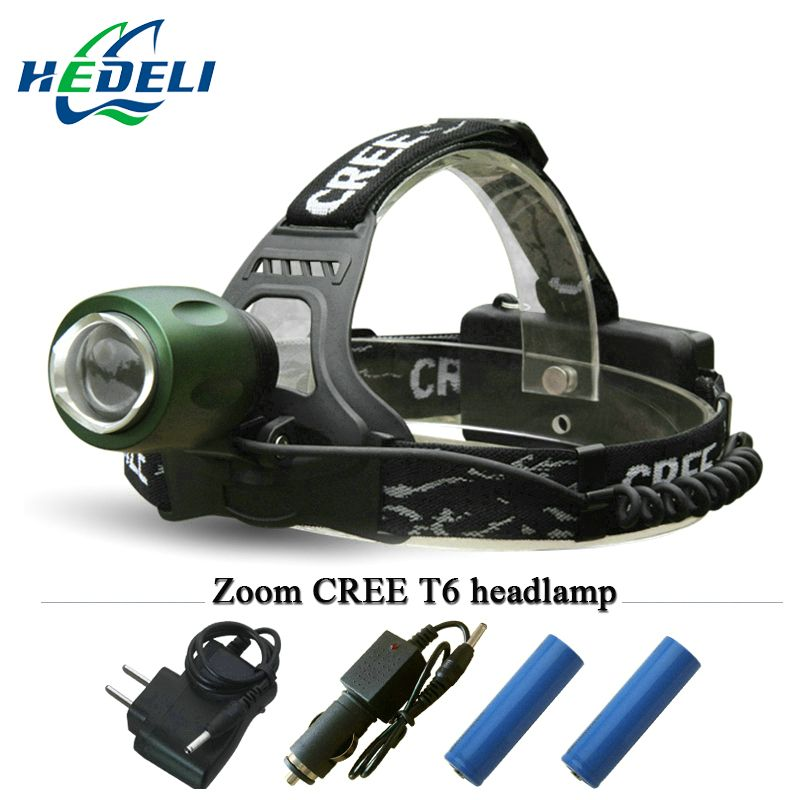 3000 Lumens Head Lamp Cree Xm L T6 Headlamp Led Headlight Zoomble