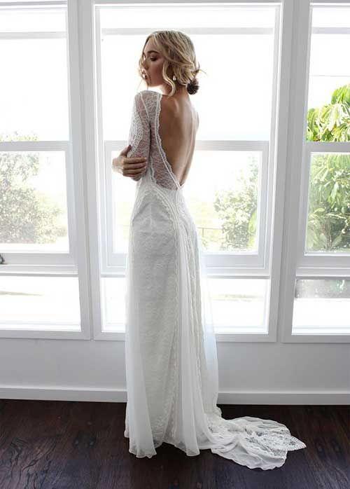 Uzun Kollu Gelinlik Modelleri 2017-14   Wedding dress   Pinterest ...