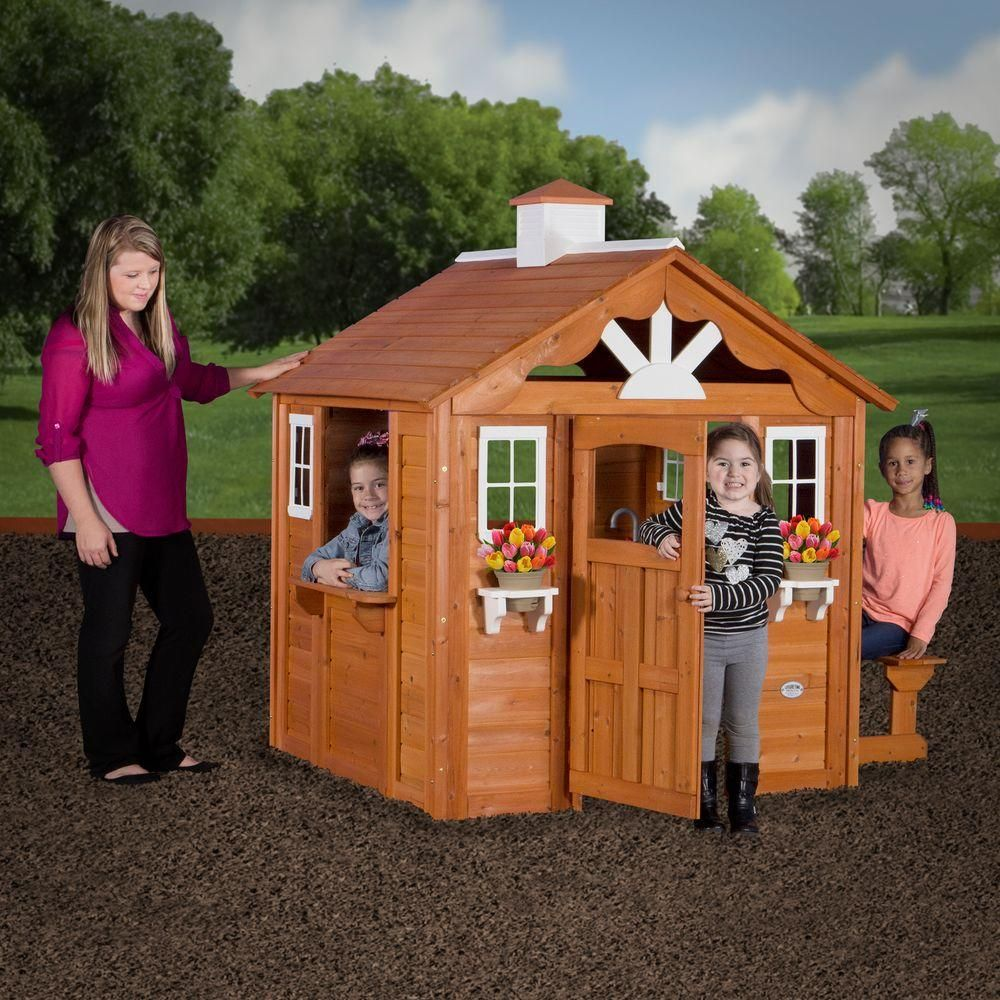Backyard Discovery Cedar Cottage backyard discovery summer cottage all cedar playhouse | cedar