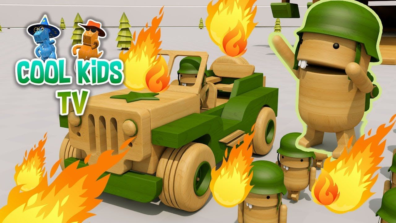 Jeep toys for kids  Color Tanks for Kids  Learn Colors for Kids with Jeep Cars