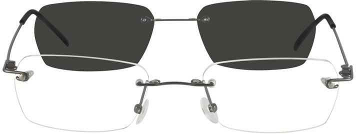 Gray Stainless Steel Spring Hinge Frame With Polarized Magnetic Snap On Sunlens 349112 Zenni Optical Eyeglasses Hinged Frame Zenni Optical Zenni Optical Glasses