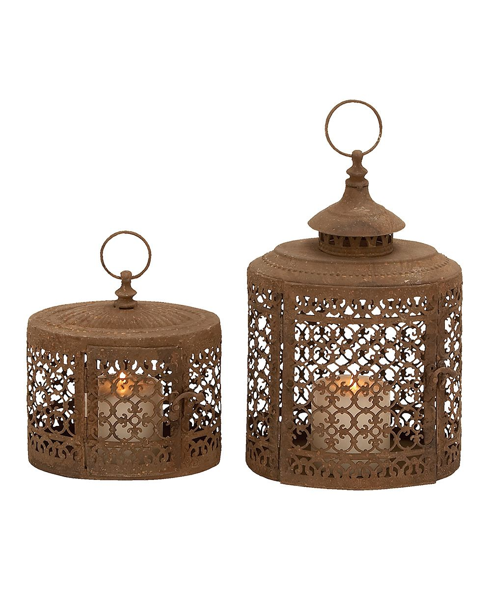 Rust Birdcage Lantern