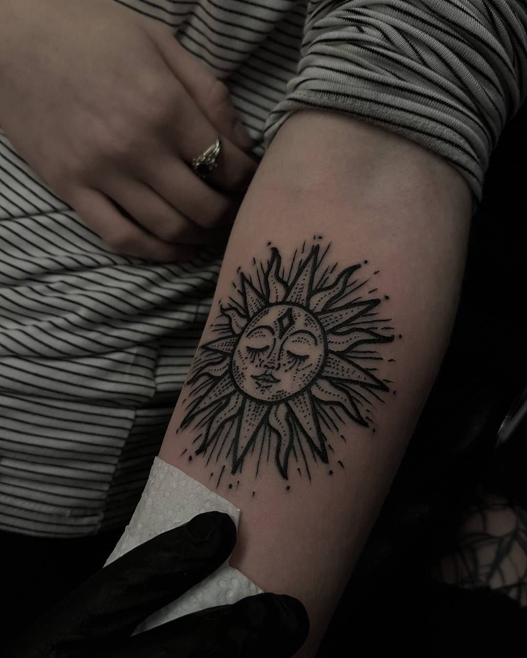 55 Totally Inspiring Ideas For Sun Tattoo Design