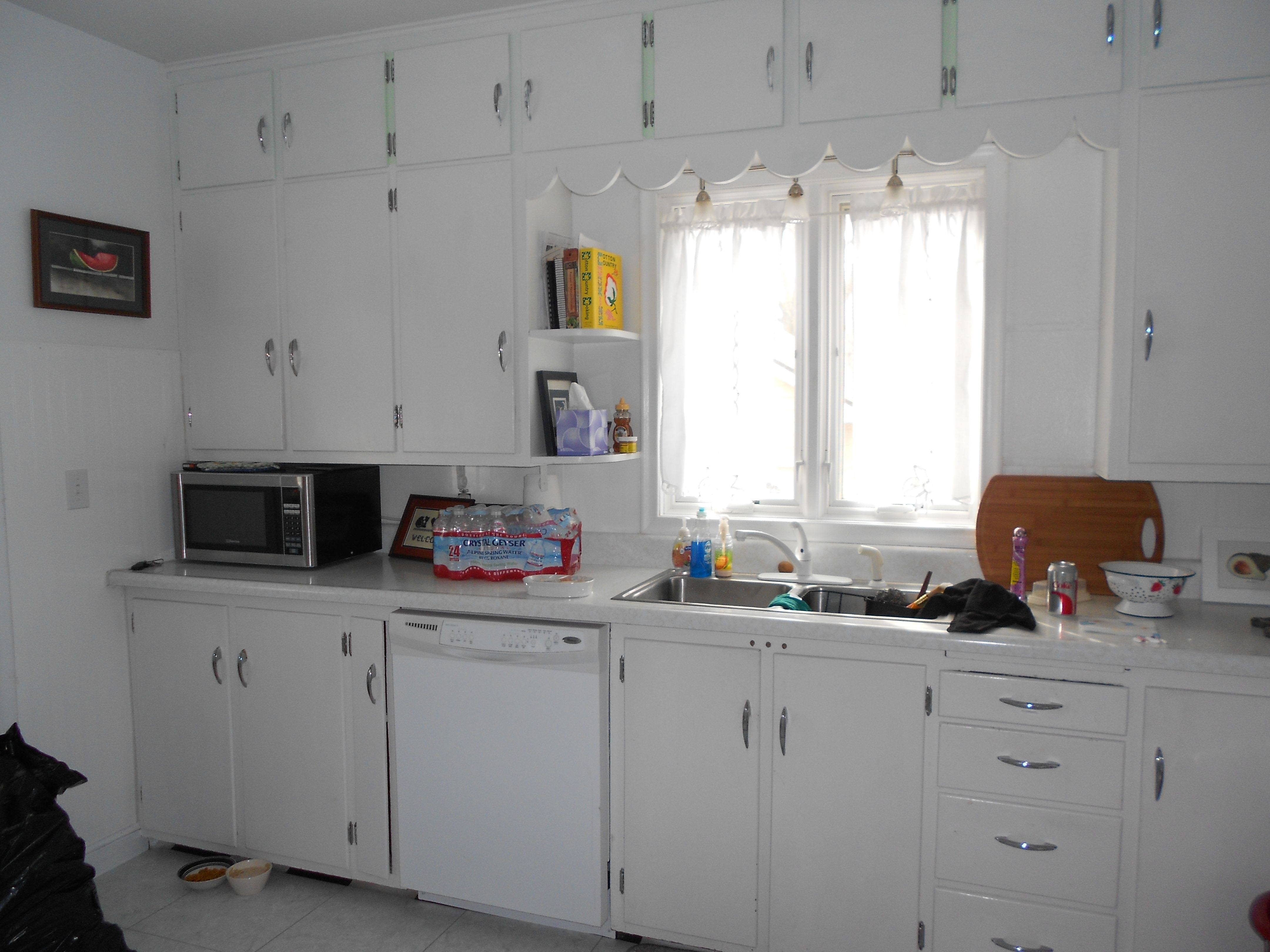 Before - 1950 Cabinets with white paint and original ...