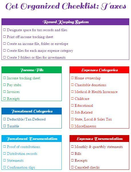 Create Receipts Free Mesmerizing This Get Organized Checklist For Your Taxes Will Help You Set Up A .