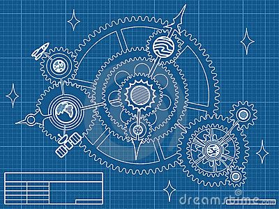 Blueprint of space mechanic by biterbig via dreamstime ciudad blueprint of spase mechanic royalty free stock images image malvernweather