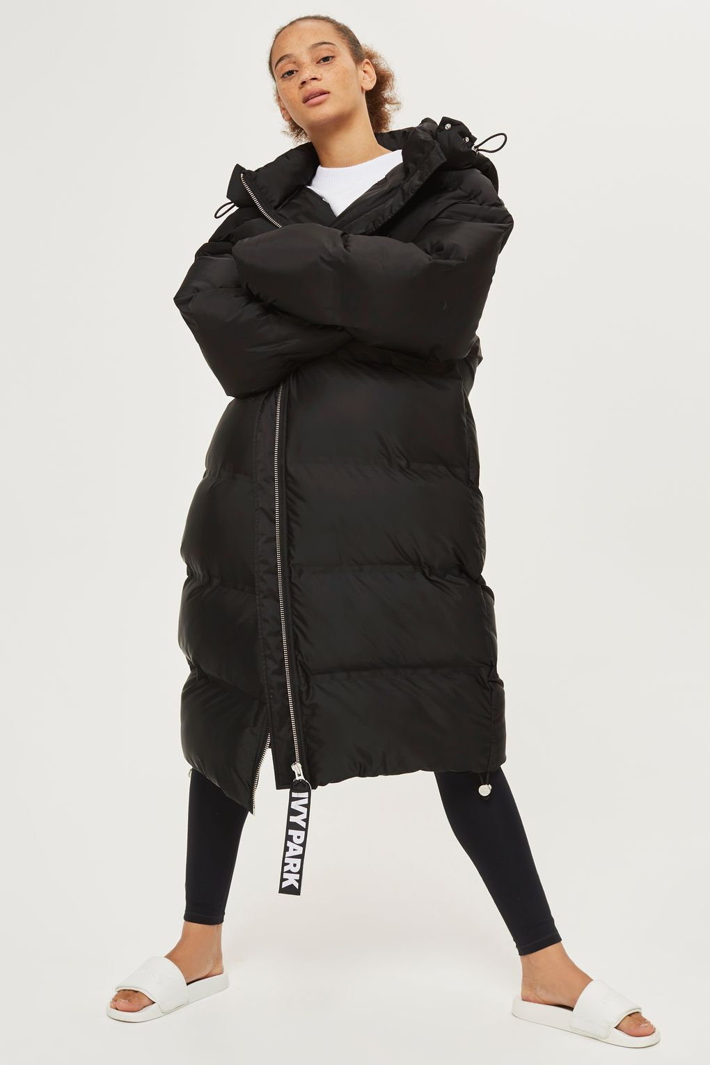 e385a8117 Longline Bonded Puffa Jacket by Ivy Park - Ivy Park - Clothing | buy ...