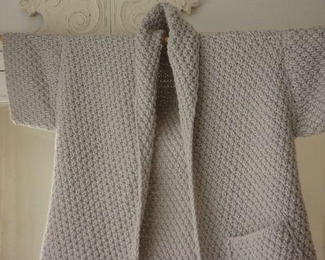 Bonne ann e une envie point de bl veste femme et tuto gratuit - Point de ble au tricot ...