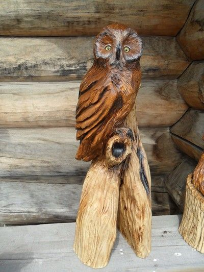 Chainsaw wood carvings and sculptures by jim menken