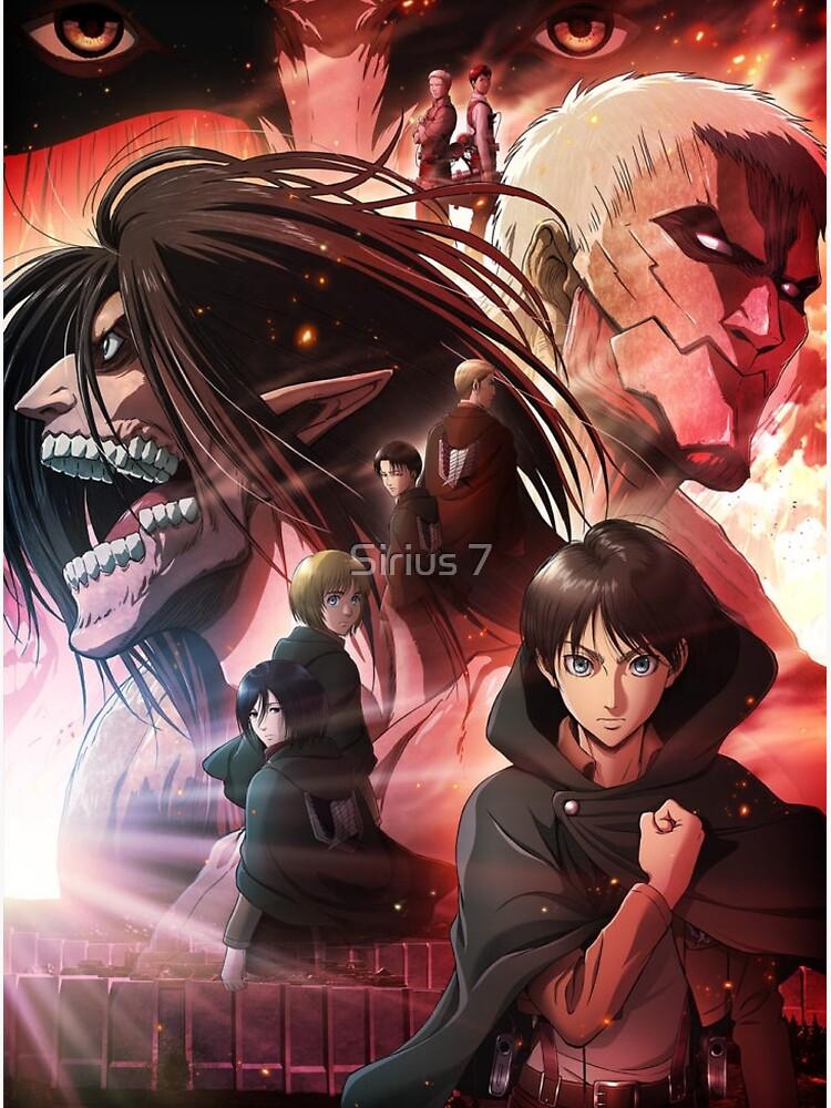 Attack On Titan Shingeki No Kyojin Season 4 Poster Anime Poster By Sirius 7 In 2021 Attack On Titan Anime Attack On Titan Anime