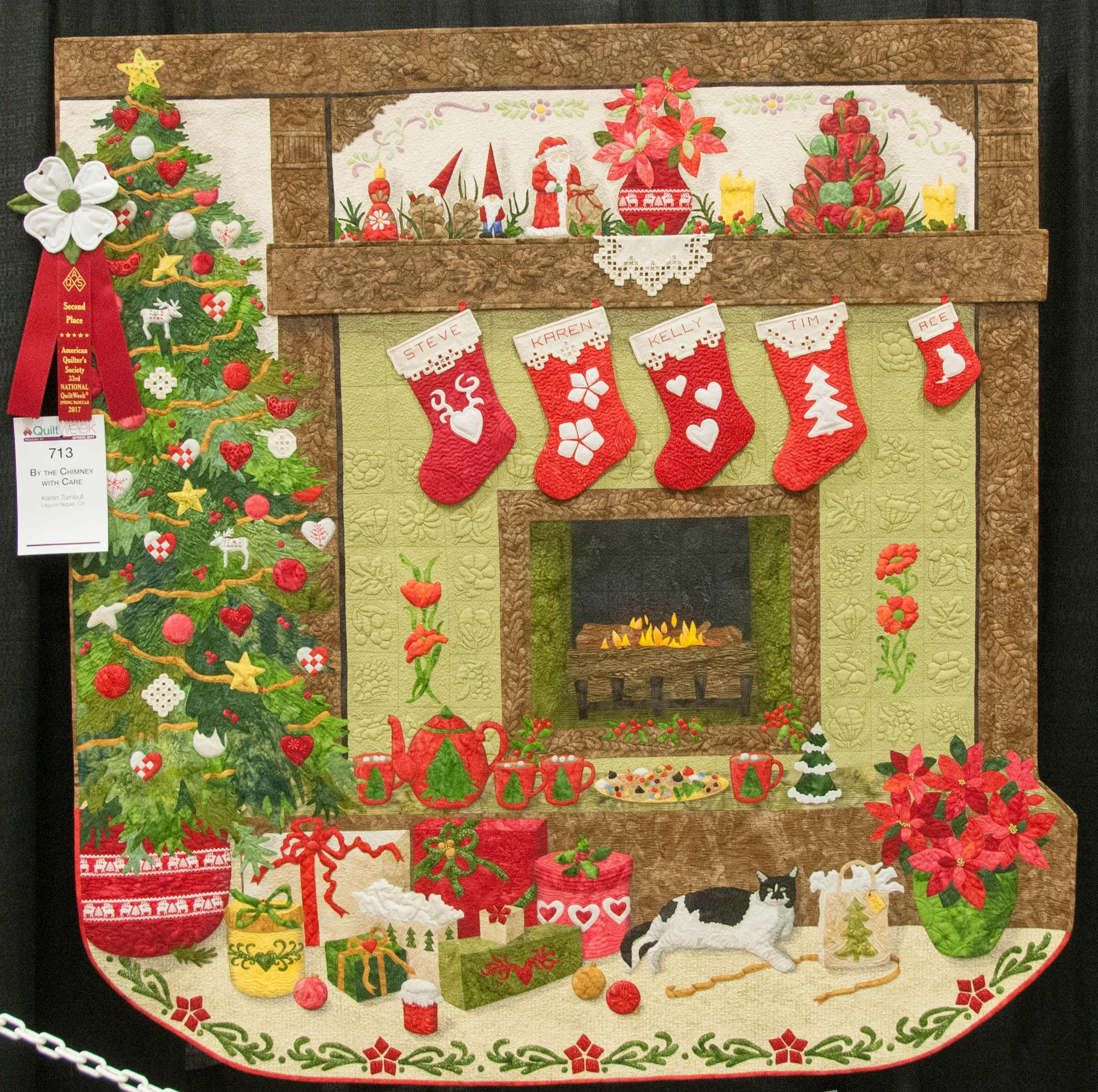 By the Chimney with Care by Karen Turnbull. 2nd place Pictorial ... : daytona beach quilt shops - Adamdwight.com