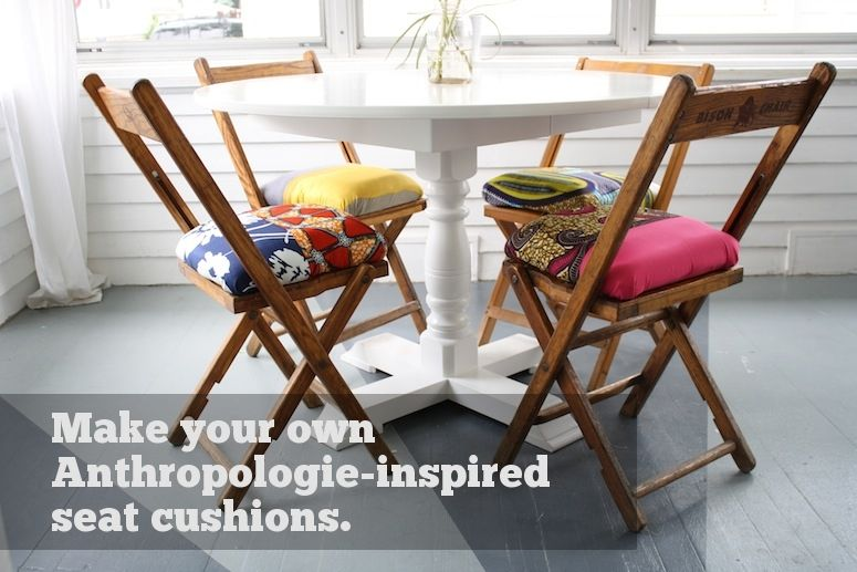 Make Your Own Anthropologie Folding Chair Seat Cushions  For The Best Dining Room Chair Seat Pads Decorating Inspiration