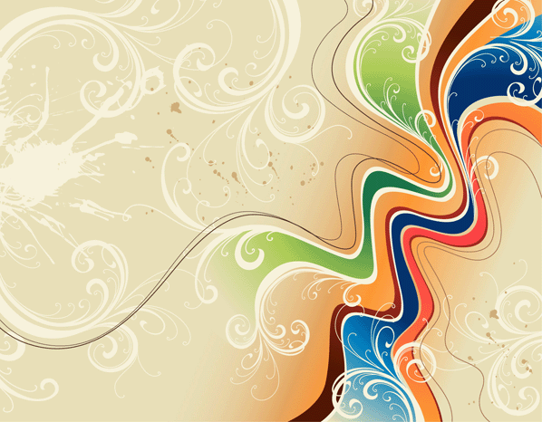 Wavy Floral Free Vector Background   Download Free Vector Graphic ...