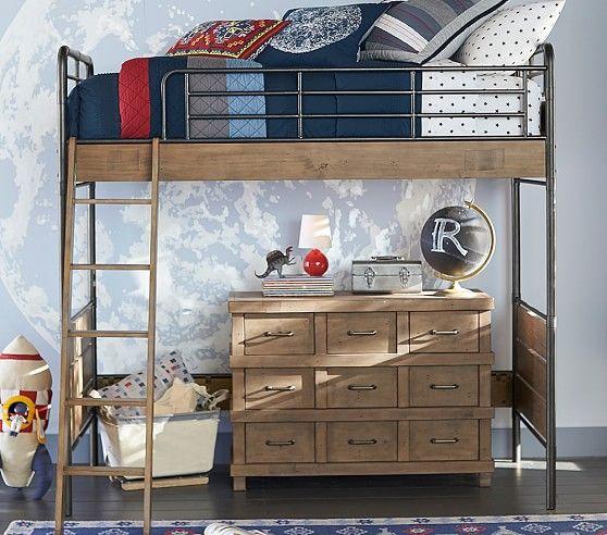 Owen Twin Loft Bed Pottery Barn Kids Kid Beds Cool Bunk Beds