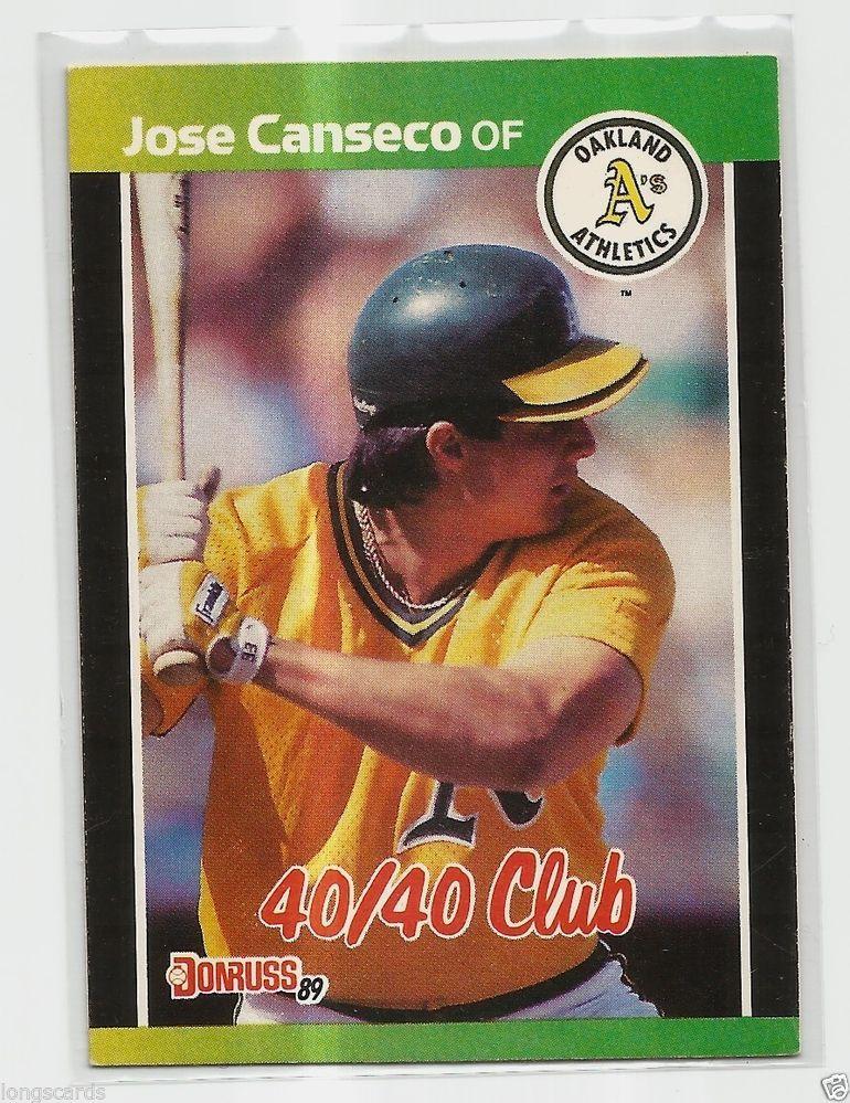 1989 donruss 643 4040 club jose canseco baseball cards