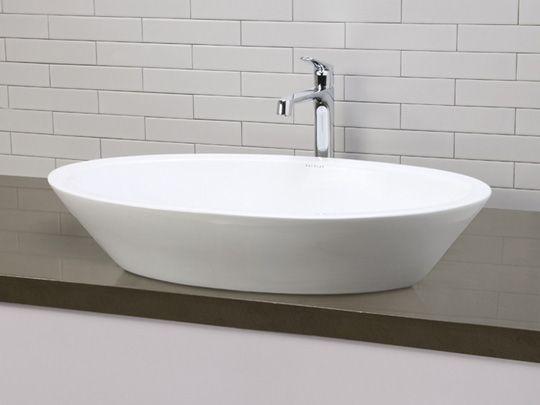 Ceramic Bathroom Vessel Sinks White Large Deep Oval Ceramic Vessel Sink With Overflow Above Counter Bathroom Sink