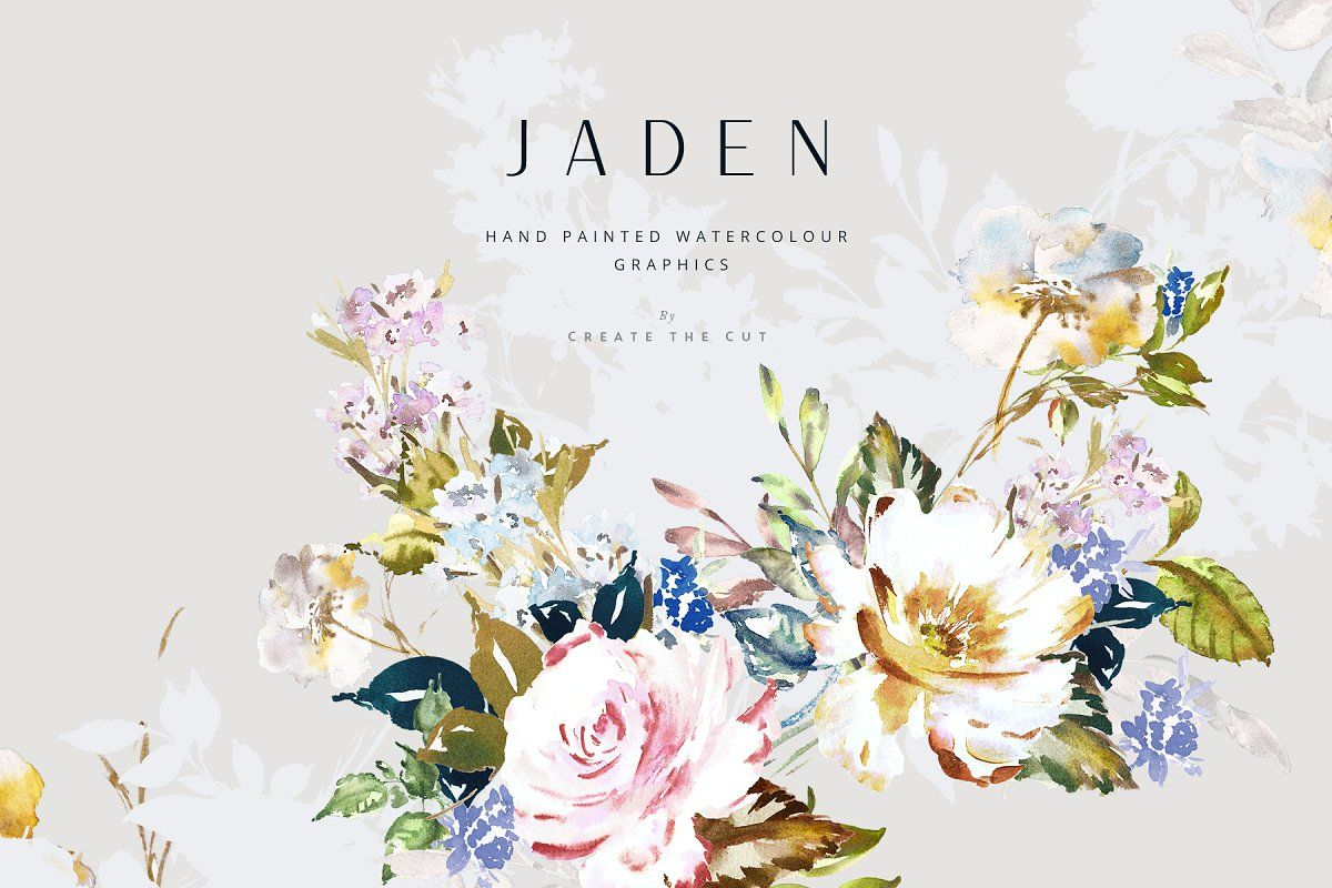 Hand Painted Graphics Jaden Watercolor Flowers Flower Clipart