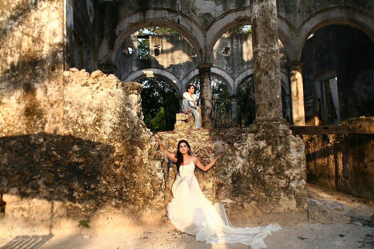 Hacienda Uayamon Trash The Dress In Campeche Stunning Haciendo