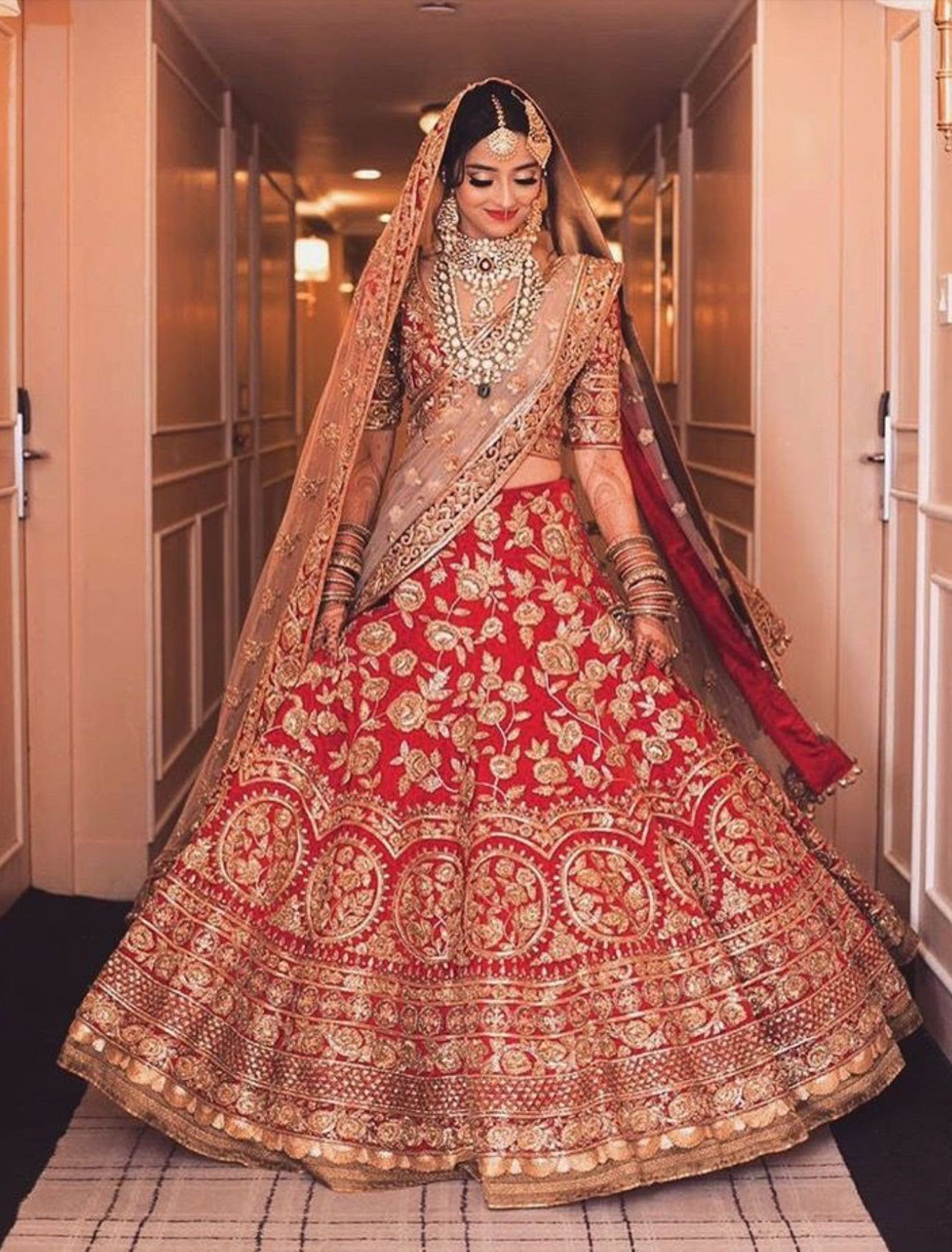 ab0a94ee7d Red pink gold two piece Indian style dress | Beautiful Clothes ...