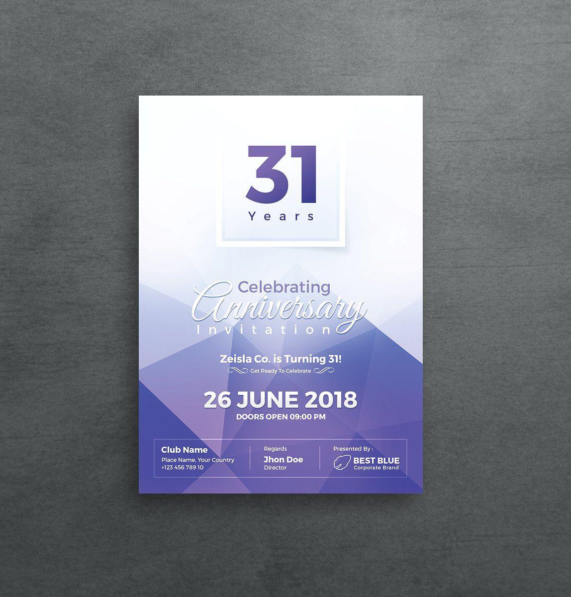 Anniversary Invitation Dengan Gambar Kartu Undangan Pernikahan