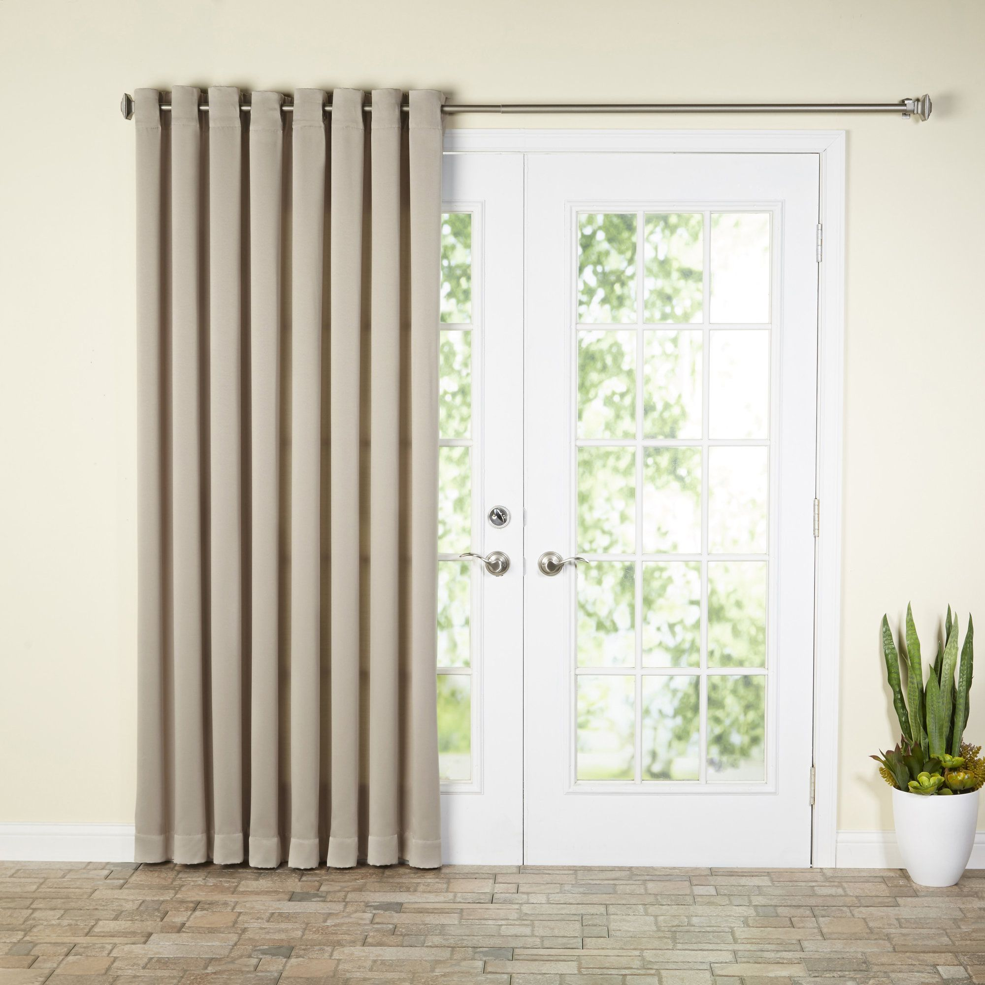 Solid Room Darkening Grommet Single Curtain Panel Products