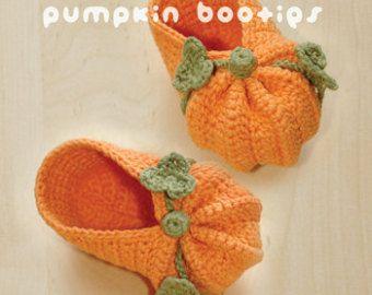 Zucche di Halloween del bambino bottini Crochet Pattern - Grafico & Pattern Scritto
