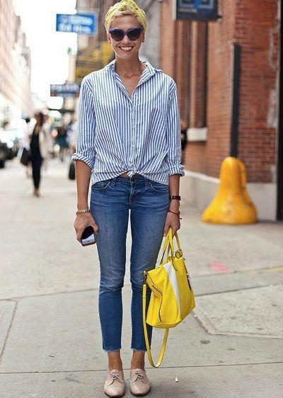 75d4bcf827e Рубашка в полоску женская (130 фото)  длинная