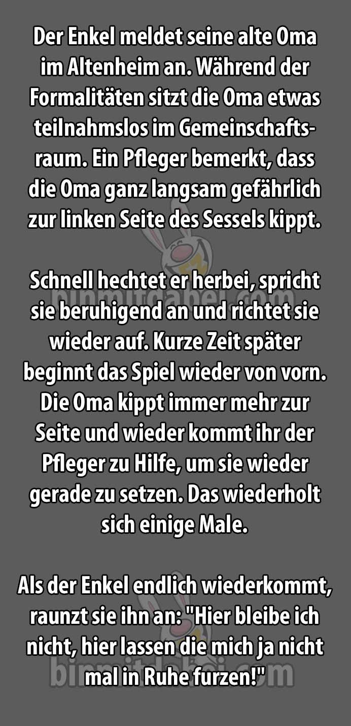 Oma Soll Ins Altenheim Spruche 4 Funny Funny Stories Und Jokes