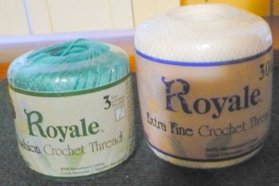 2 Jp Coats Royale Fashion Crochet Thread Size 3 Warm Teal